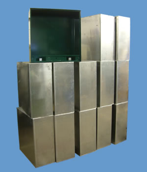 Fabricated Sheet Metal Electronic Console