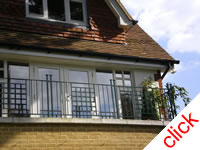 House Railings - Wimbledon: Garden railings, gates and second floor balcony