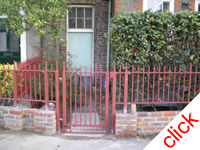 Gate & Railings: Matching mild steel railings and gate