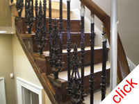 Victorian Stair Spindles: Replacement Cast Iron Spindles for London pub